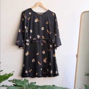 Zara Floral Bird Dress